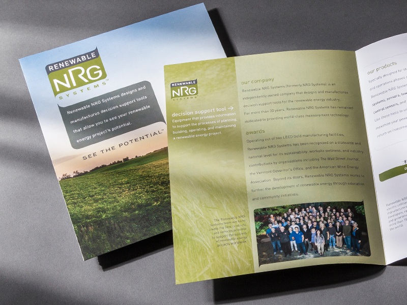 Renewable NRG Systems | Corporate Brochure Design