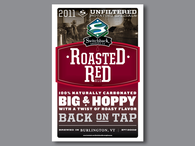 Switchback Brewing Co. | Roasted Red Ale Poster Design