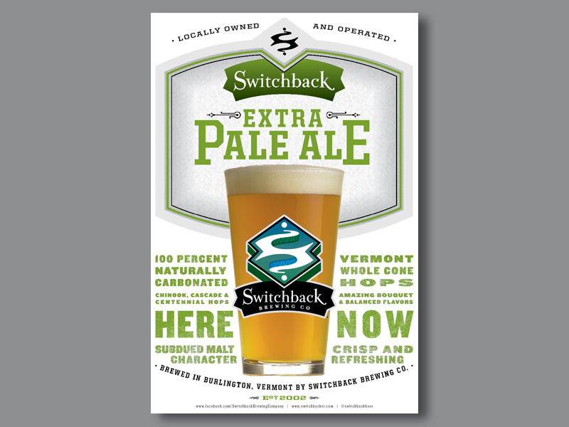 Switchback Brewing Co. | Extra Pale Ale Poster Design