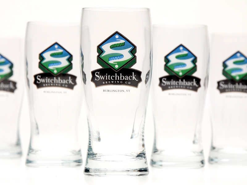 Switchback Brewing Co. | Switchback Fancy Pint Glass Design