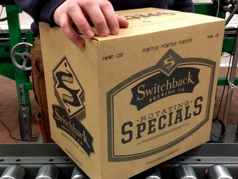 Switchback Brewing Co. | Rotating Specials Case Box Design