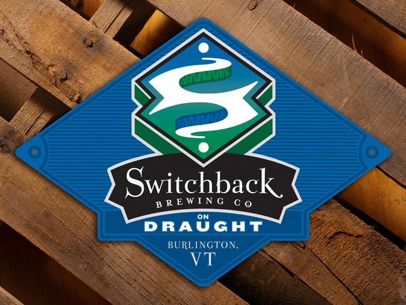 Switchback Brewing Co.   Metal Bar Tacker Sign Design
