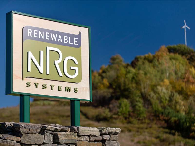 Renewable NRG Systems | Exterior Signage Design