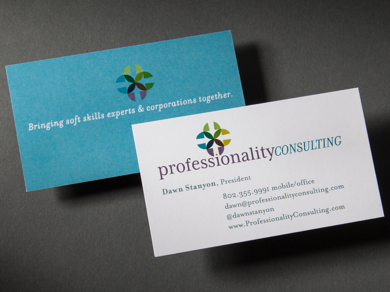 Professionality Consulting | Business Card Design Detail
