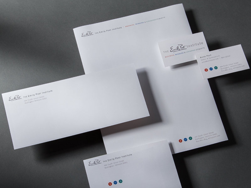 The Emily Post Institute | Stationery Design