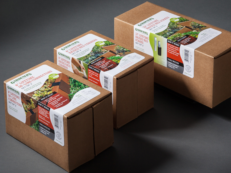 Gardener's Supply Company | Raised Bed Corners Retail Packaging Design