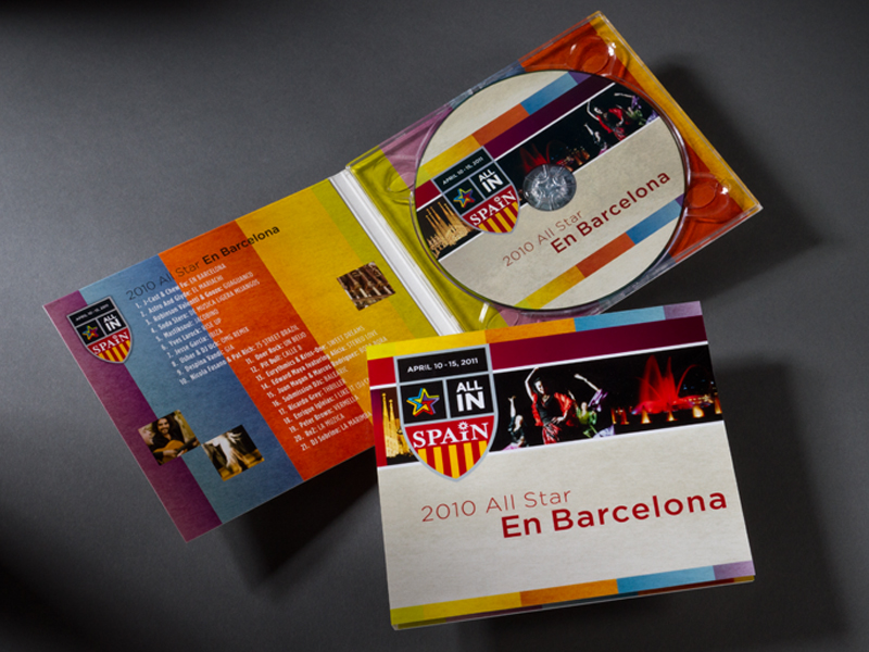 Madison Performance Group | 2011 Barcelona Summit All Star Soundtrack Packaging Design