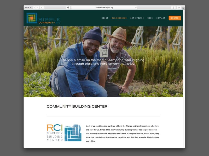Ripple Community Inc. Website Design |  view site