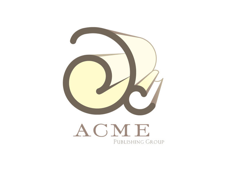 Alternative Start-up Logo Design for Acme Publishing Group by Interrobang Design