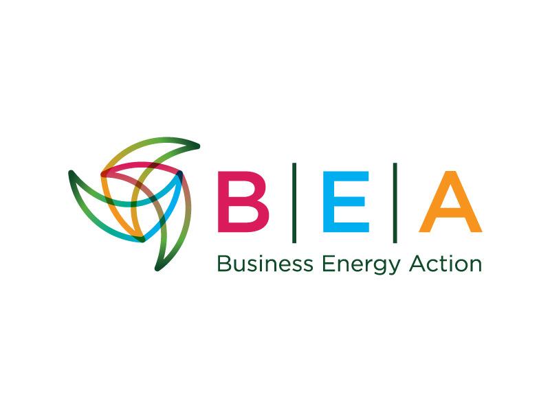 Logo design for Business Energy Action program by Interrobang Design