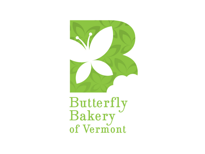Start-up Company Logo Design for Butterfly Bakery in Montpelier VT by Interrobang Design