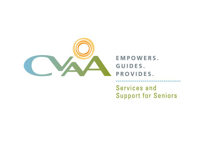 Nonprofit Logo Design for CVAA in Essex Junction Vermont, by Interrobang Design