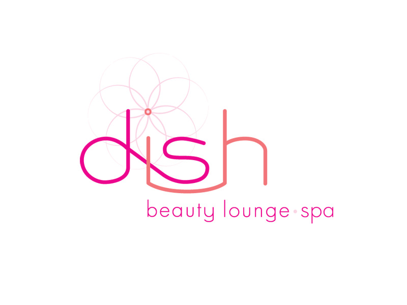 Start-up Company Logo Design for Dish Beauty Lounge in Burlington Vermont by Interrobang Design