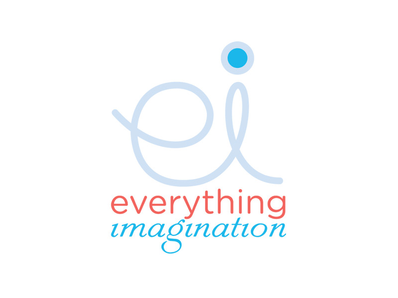 Start-up Company Logo Design for Everything Imagination by Interrobang Design