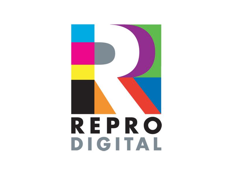 Logo Design for Reprodigital, Colchester Vermont, by Interrobang Design