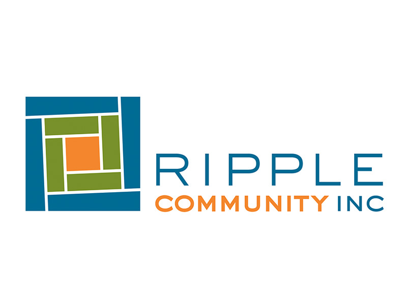 Nonprofit Logo Design for Ripple Community Inc, Allentown PA, by Interrobang Design