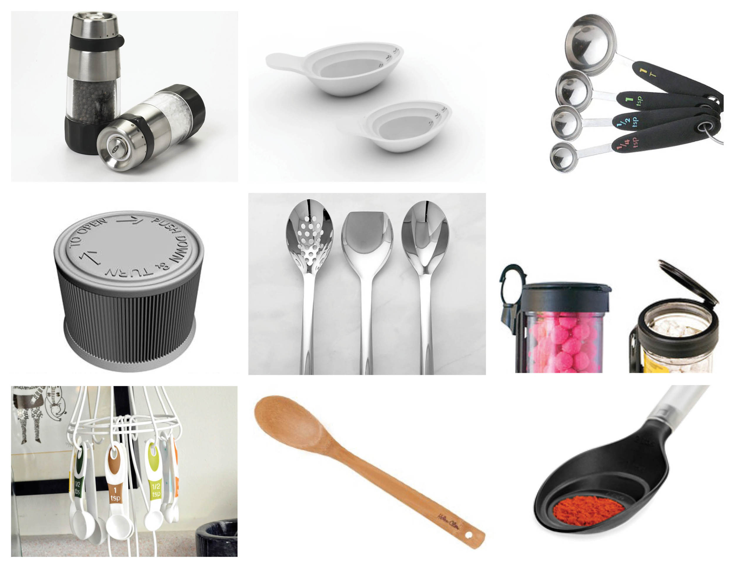 "Researching Current Products:         Once the Demographic was formed we each chose different kitchen items to redesign to be more efficient for our end user ""Steven"" as we called him. My main focus was a serving spoon."