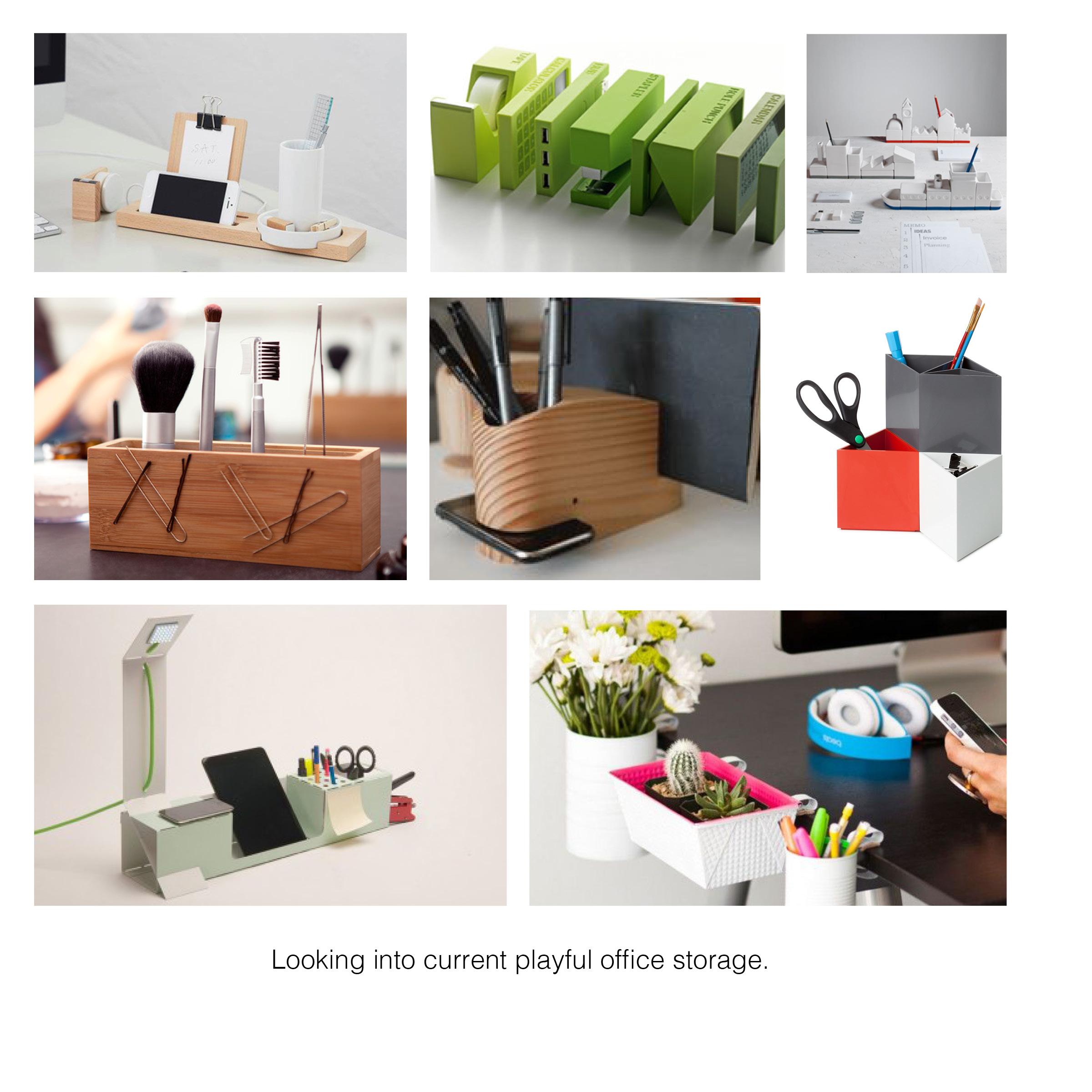 Playful office storage