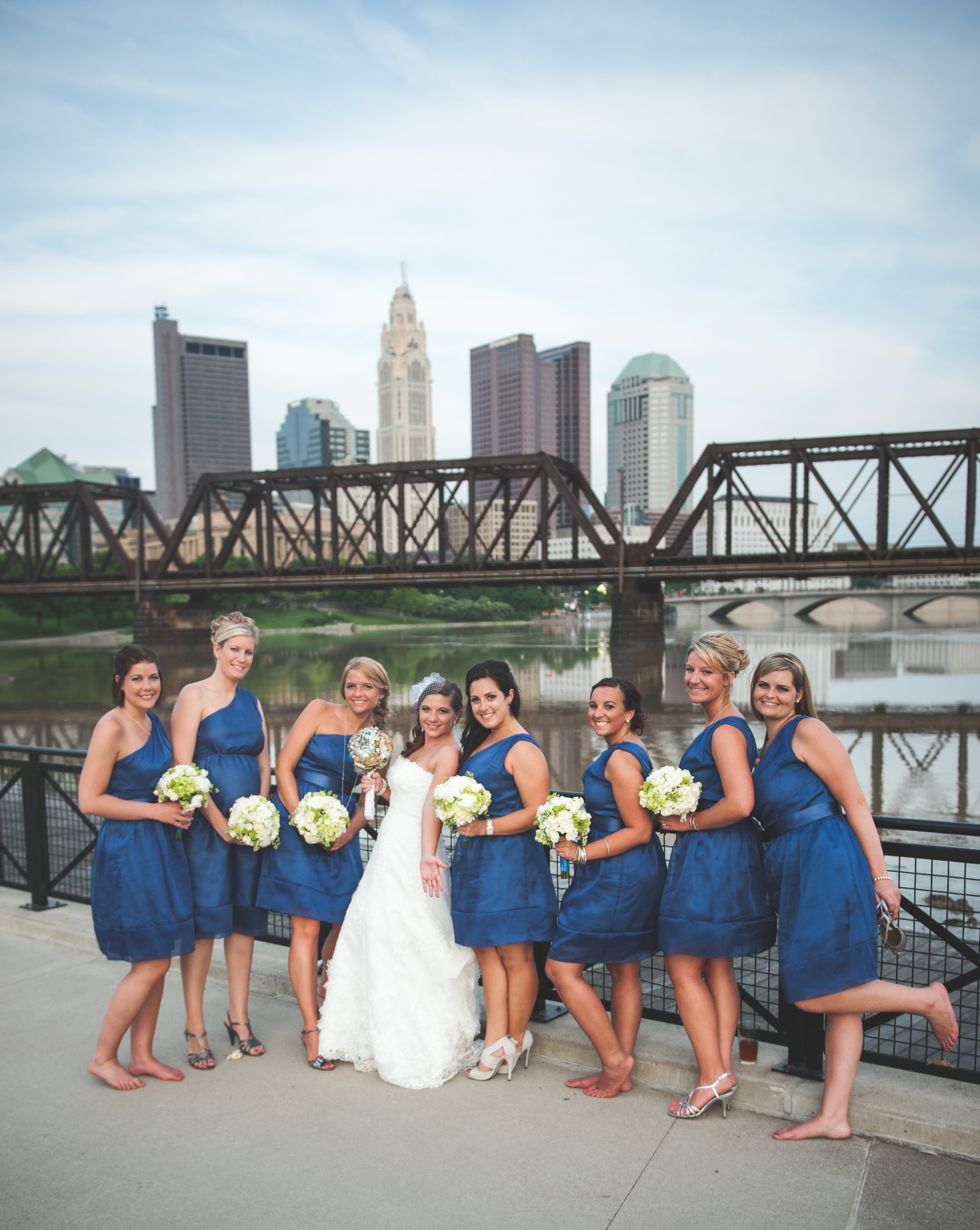 Wedding party in Downtown Columbus, OH