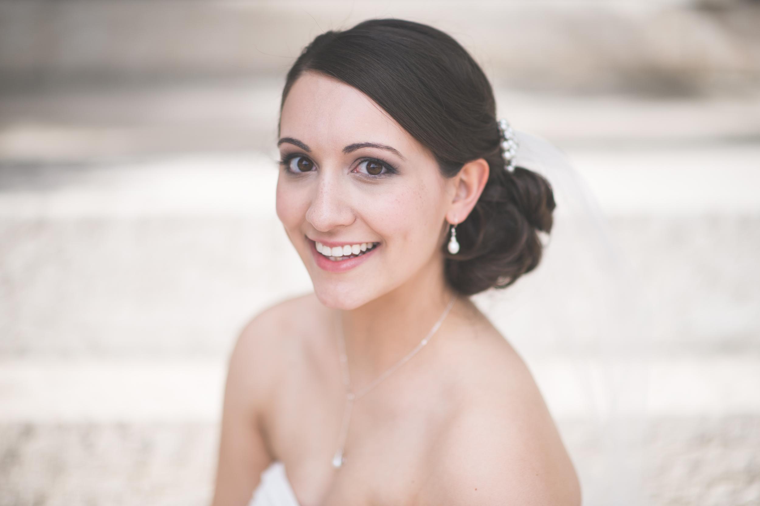 Bride's wedding photography at Taylor Mansion
