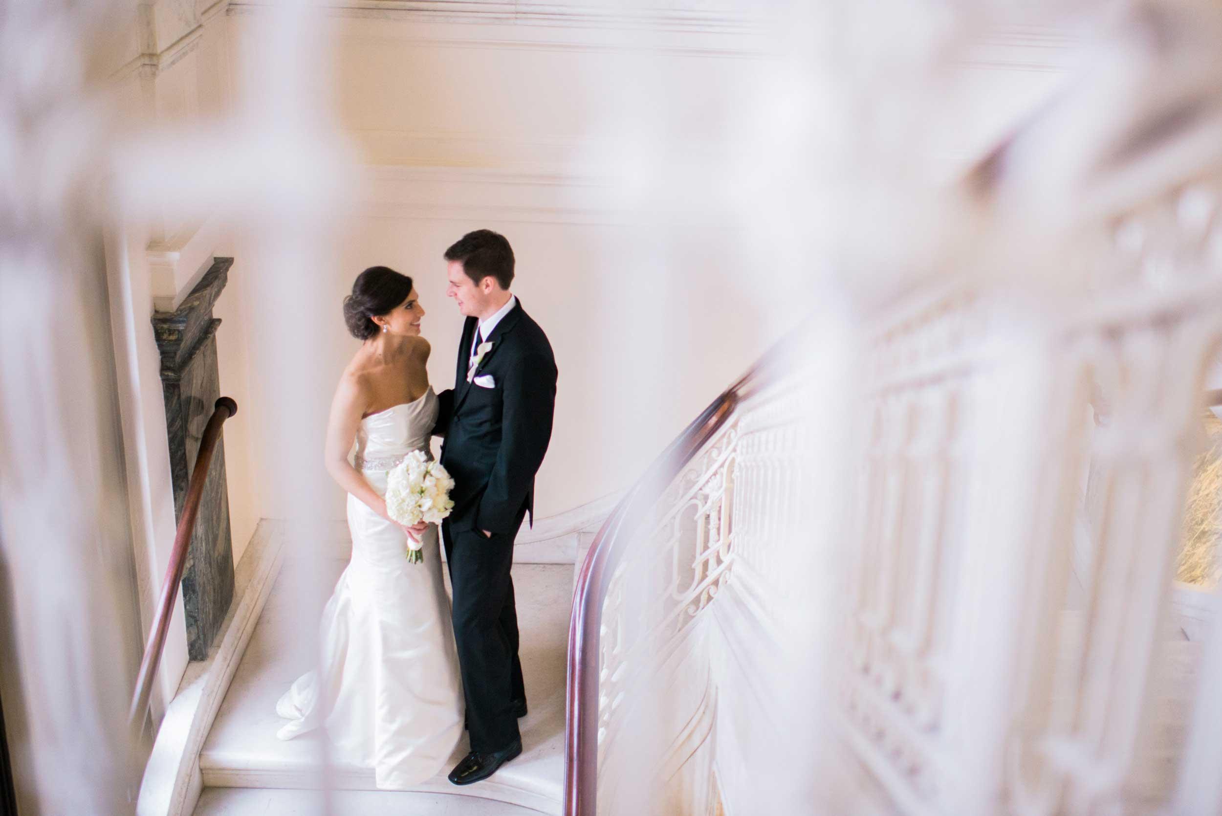 Wedding portrait at the Columbus Metropolitan Library in Columbus, OH