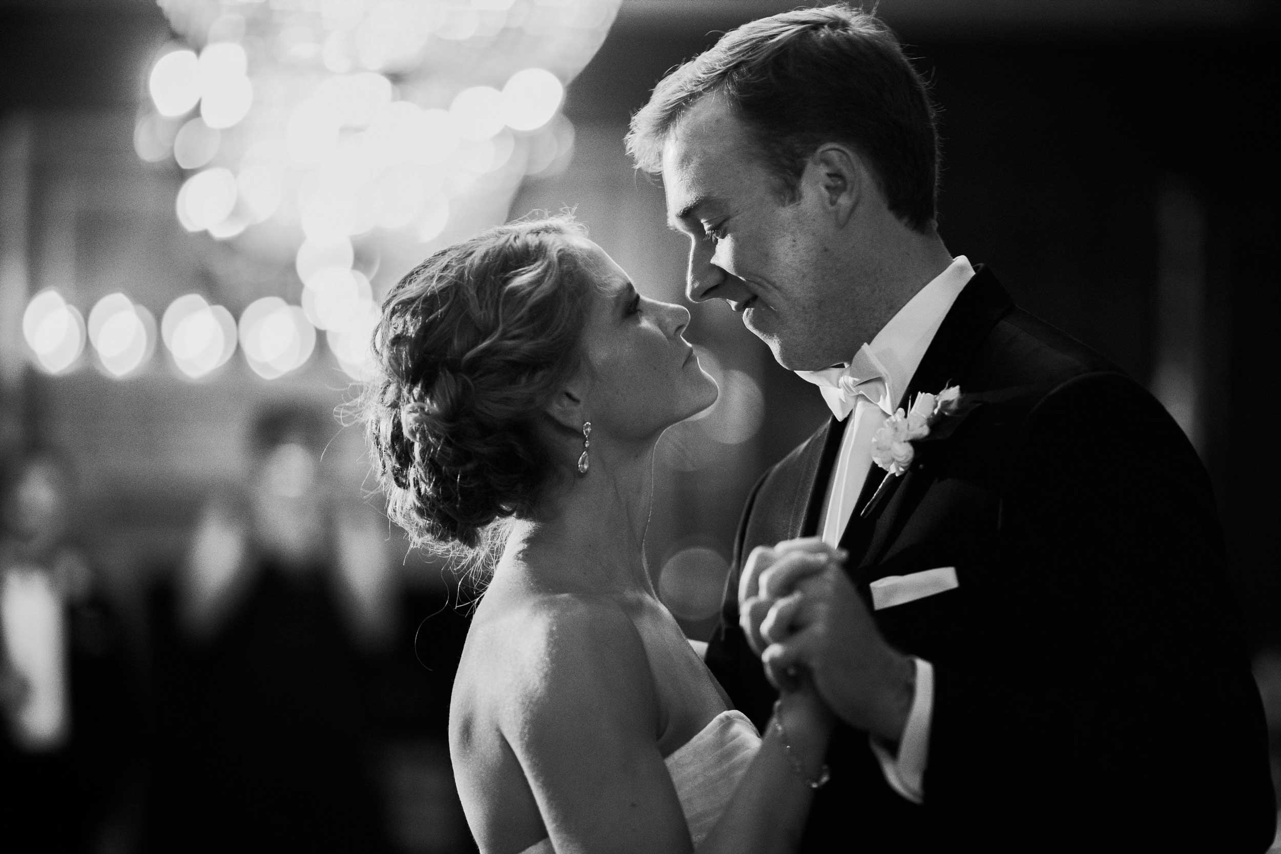 Bride and groom's first dance at the Athletic Club of Columbus