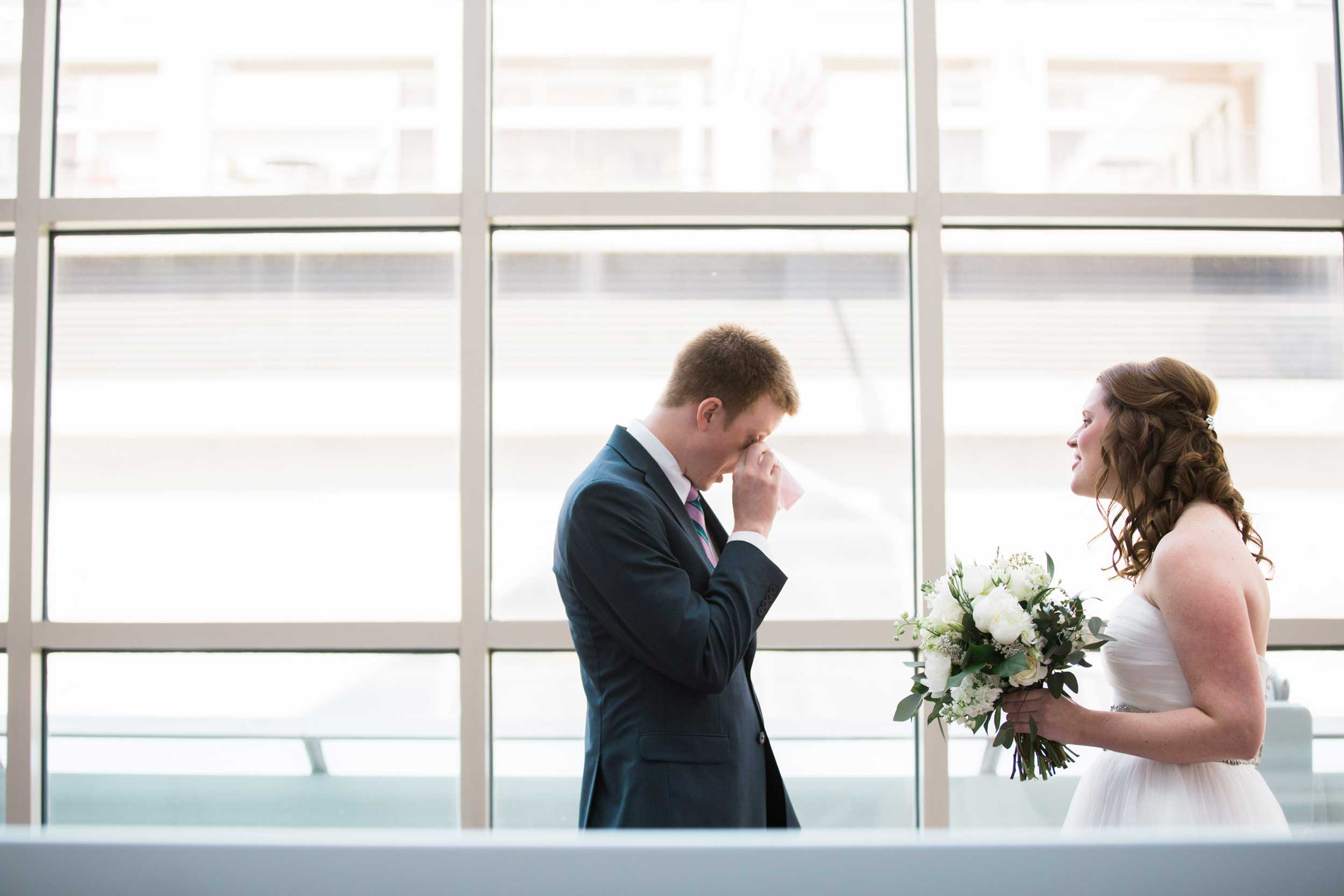 Groom's reaction at The First Look.