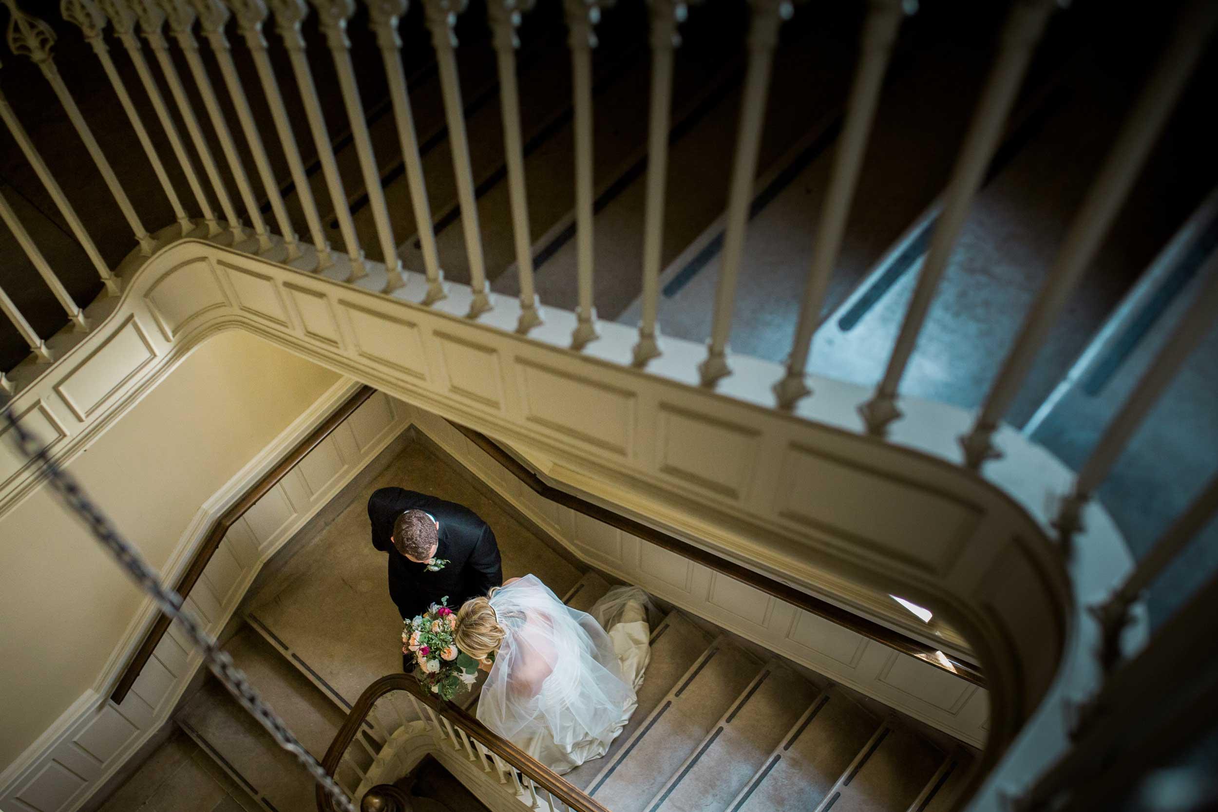Wedding ceremony at Dennison University Chapel