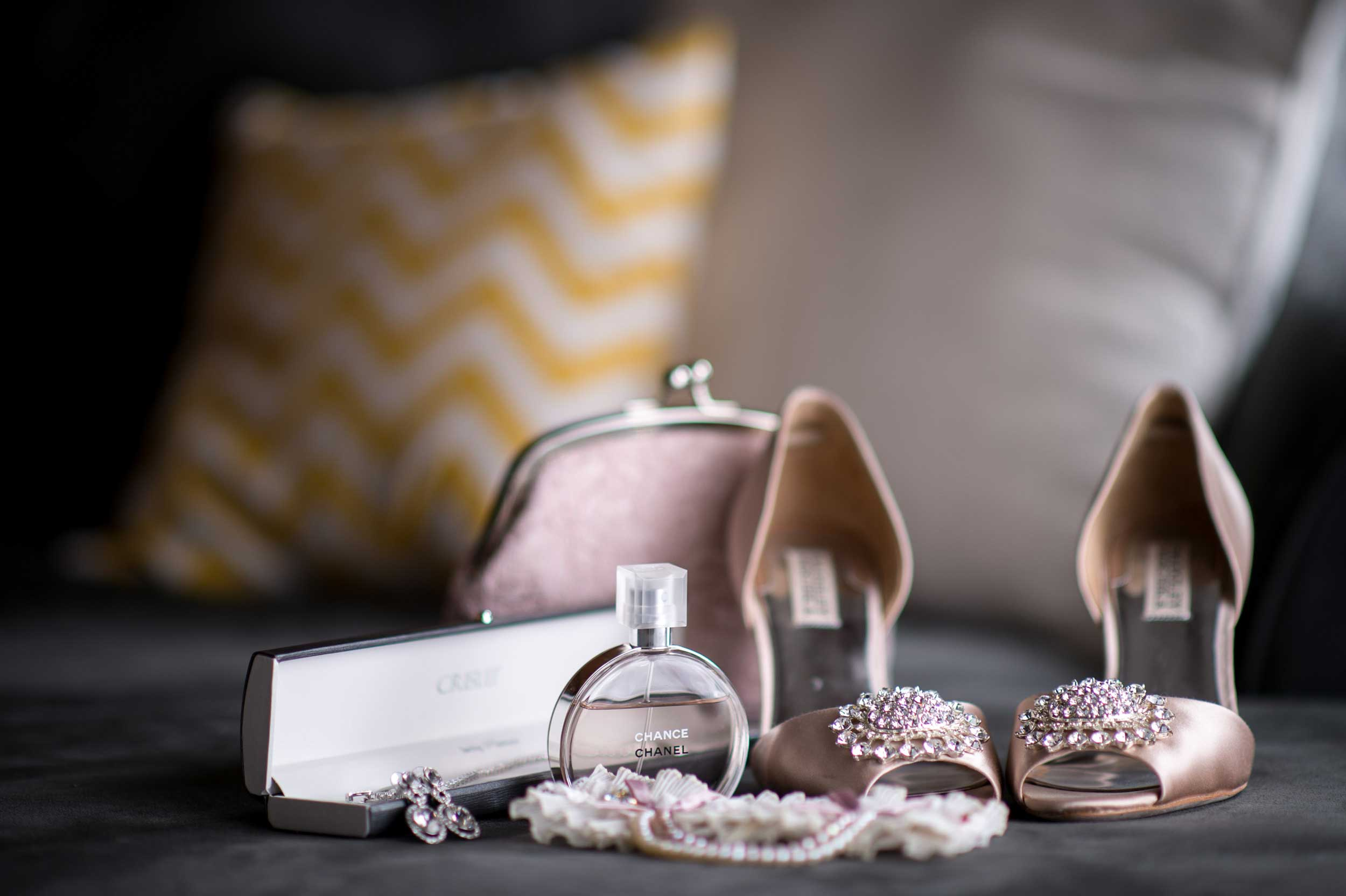 A bride's details on display as she gets ready in her Short North condo