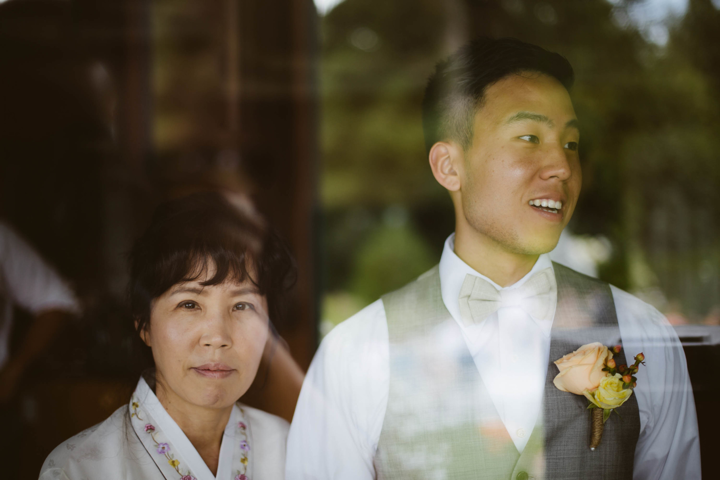 Groom and his mother.