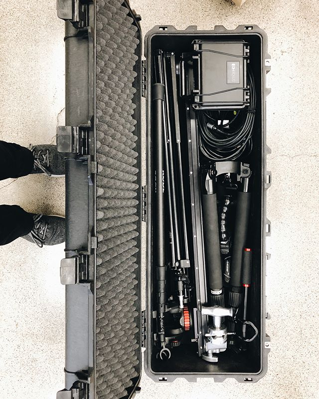 Peli packed to the brim. #filmmaking #setlife @inlandfilmco