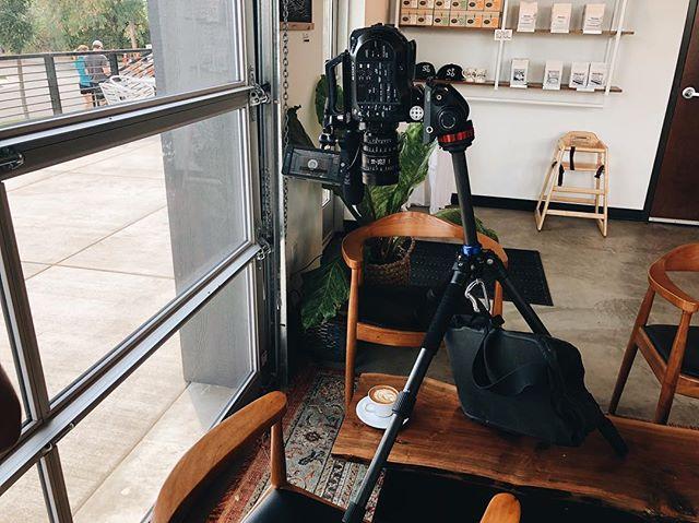 Channeling our inner @darrenaronofsky at @indabacoffee and @hellosugarspokane. @inlandfilmco #filmmaking #cinematography #coffee #spokane