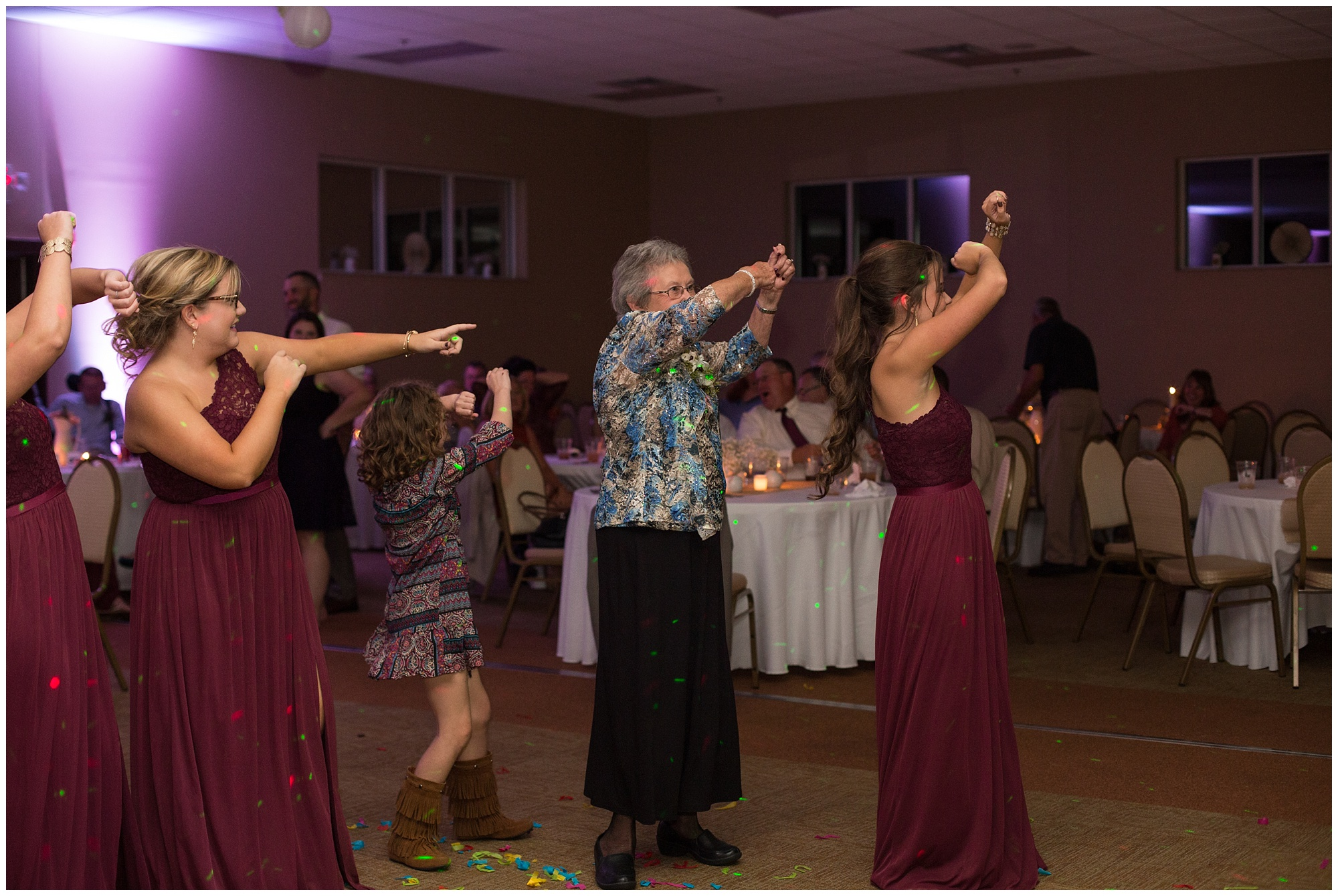 grandmother of bride dancing