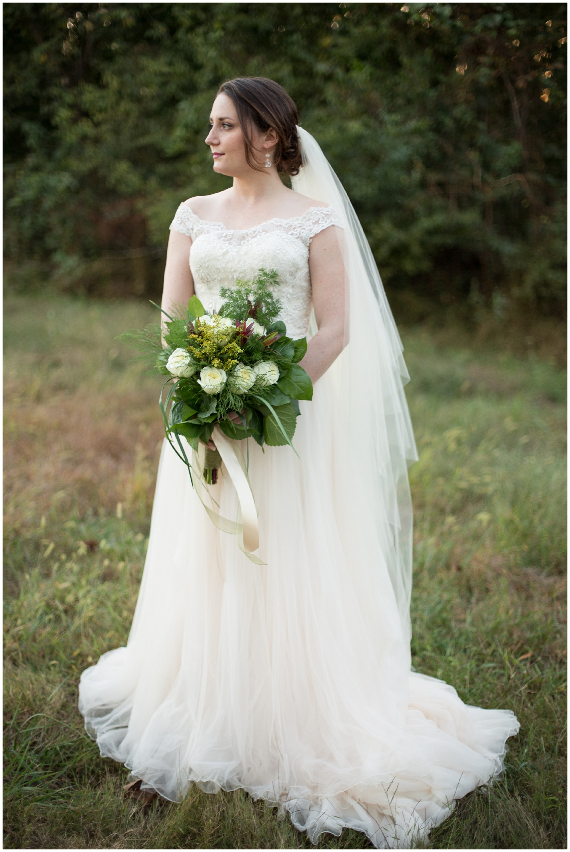 bride portraits in fall