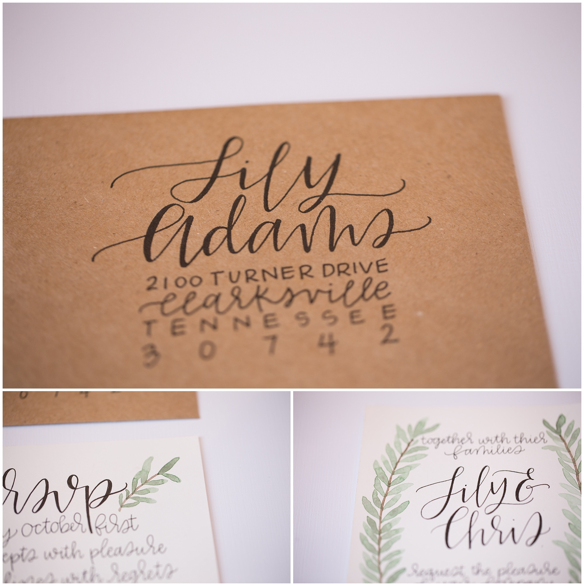 organic wedding invitation