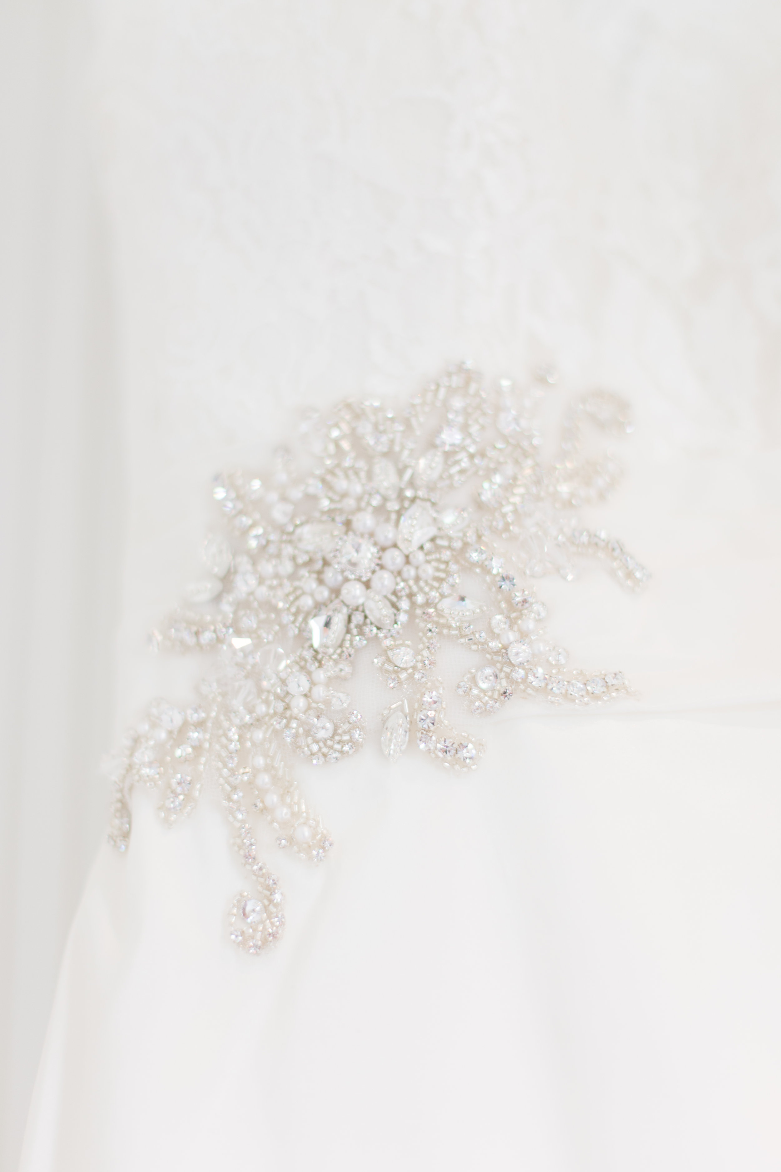 bridal dress detail