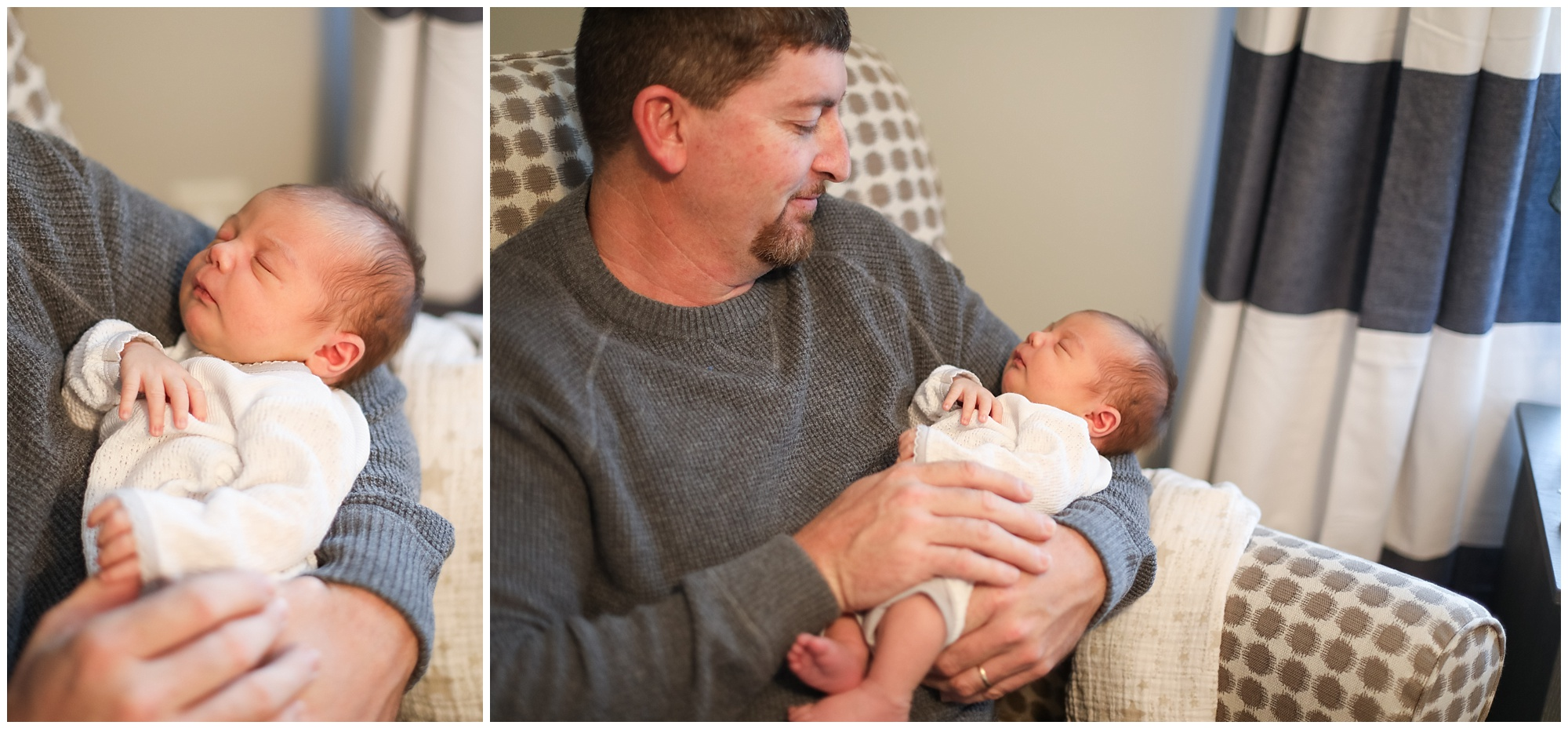 adoring father and newborn son