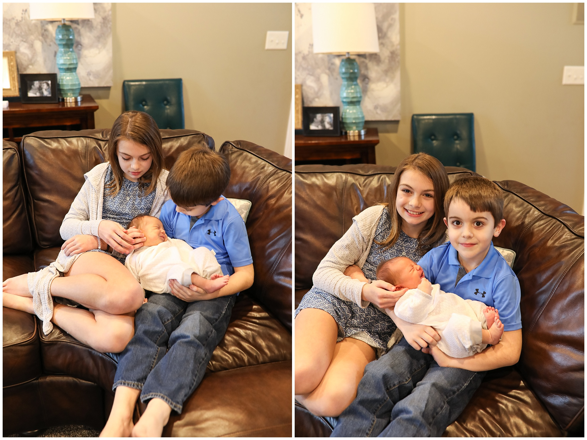 siblings with infant brother