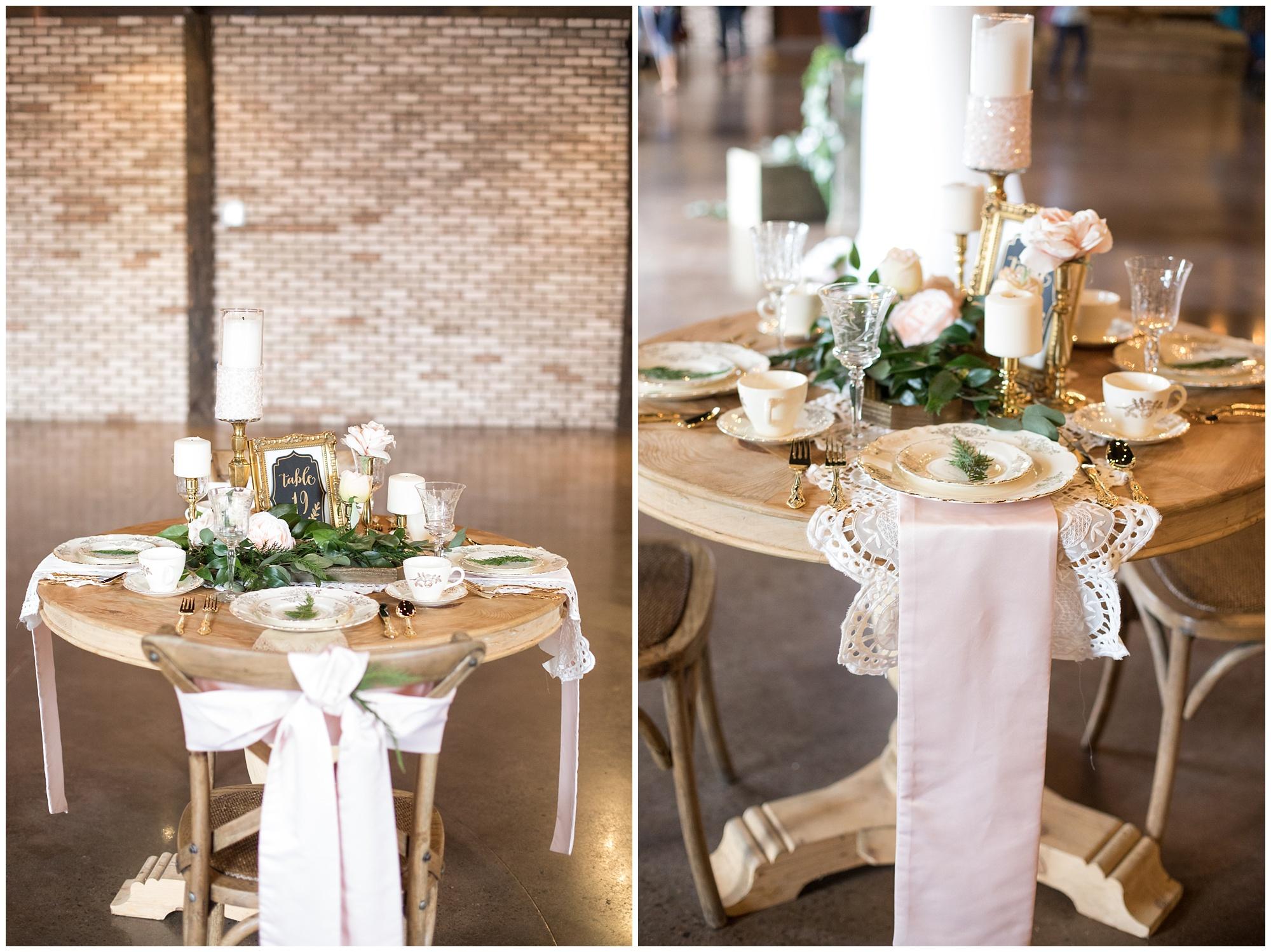 tablescape at reception