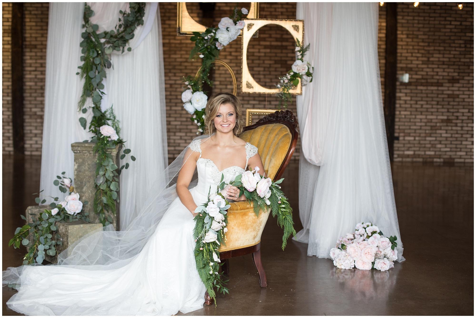 golden chair bridal