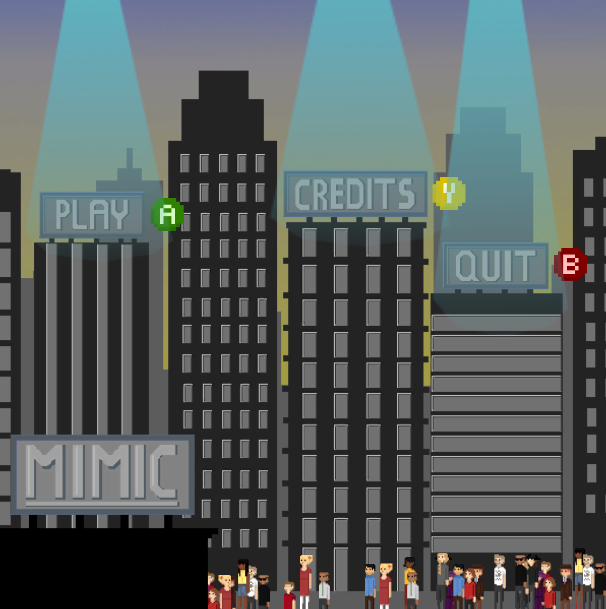 The current title screen of  Mimic
