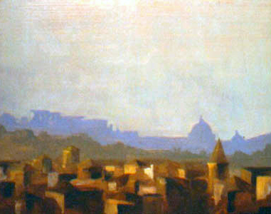 Vatican View, Rome, Italy, oil on board, 11 by 14 inches, 1993