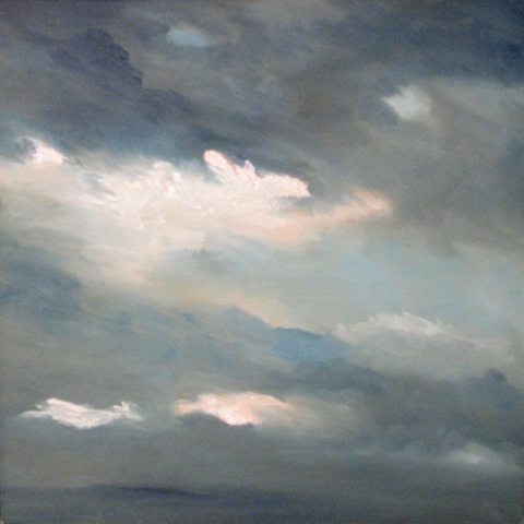 Sky Today 10-12-07, oil on board, 12 by 12 inches, 2007 - $1000 (sold)