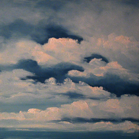Blue and White Sky, oil on board, 12 by 12 inches, 2006 - $500 (sold)