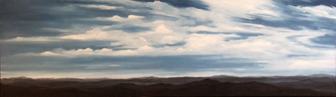 View From The Top, oil on canvas, 20 by 68 inches, 2006 - $7500 (sold)