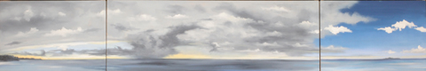 Negril Triptych, oil on canvas, 12 by 72 inches, 2007 - $5000 (sold)