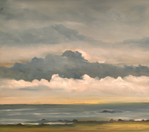 Looking to the Isle of Shoals NH, oil on board, 16 by 18 inches, 2004 - $2500 (sold)