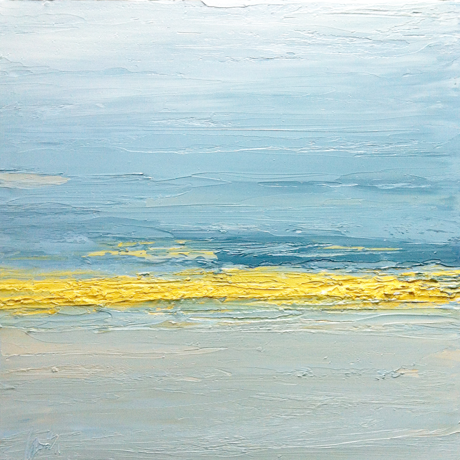 At The Horizon 2-18-12, oil on board, 12 by 12 inches, 2012 - $1500