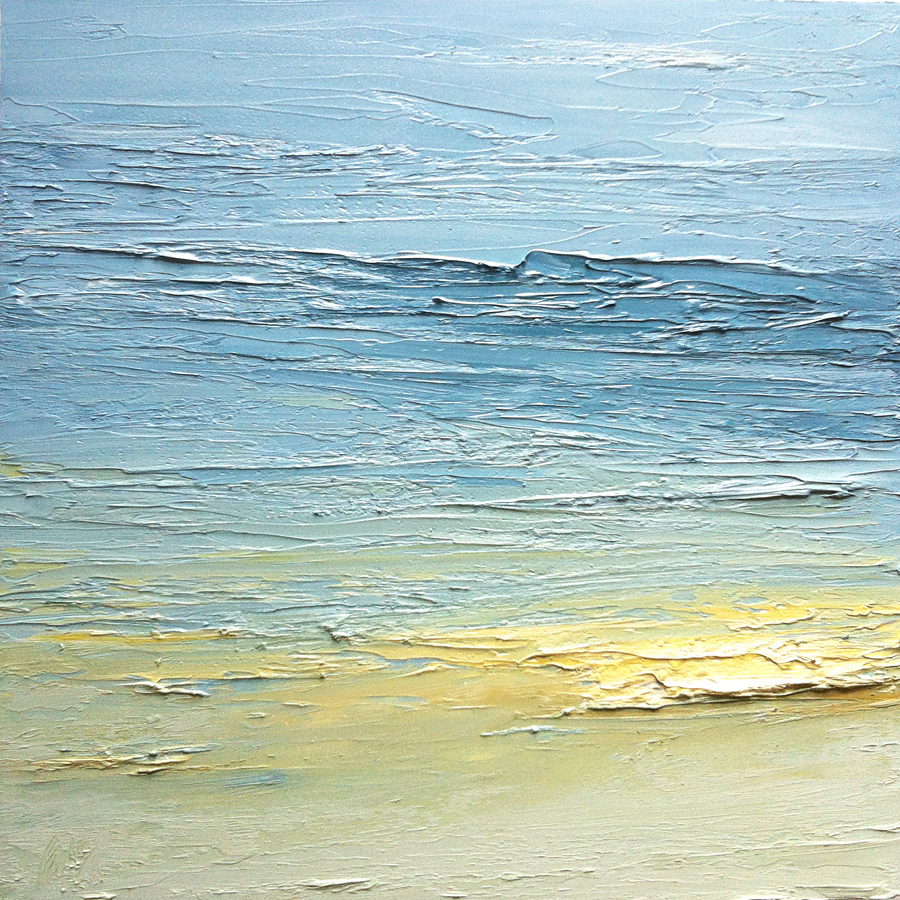 At The Horizon 2-28-12, oil on board, 12 by 12 inches, 2012 - $2500