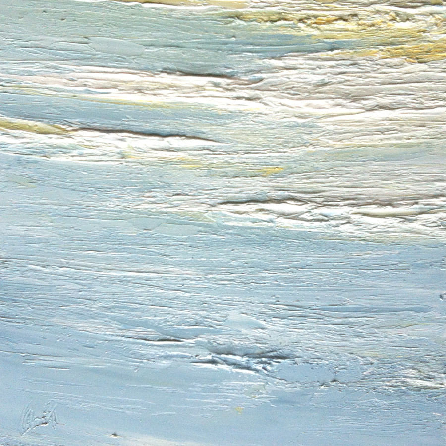At The Horizon Study 2-24-12, oil on board, 8 by 8 inches, 2012 - $800